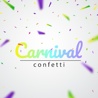 Karnevalsfeier mit bunten konfetti