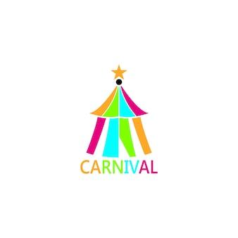Karnevalsikone und symbolvektorschablone