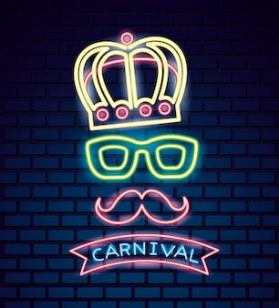 Karnevalsmaske festlich