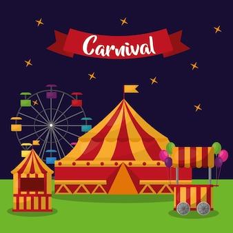 Karnevalsmesse festliche vergnügungseinladungskarte