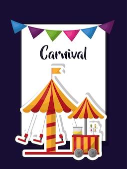 Karnevalsmesse und vergnügungsplakat