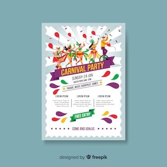 Karnevalsparty poster vorlage