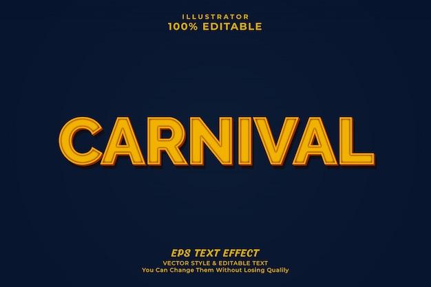 Karnevalstext-effekt