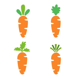 Karotte orange karotte osterhasen essen lokalisiert auf weißem hintergrund.