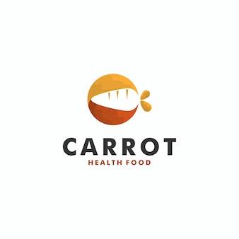 Karotten-logo-design-vorlage-vektor-illustration