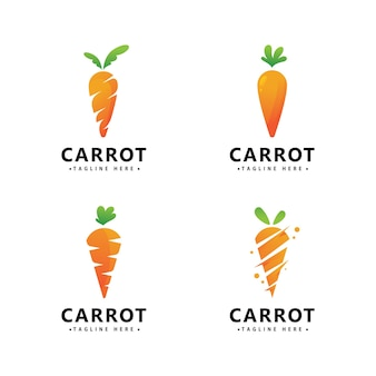 Karotten-logo-symbol-vektor-design-vorlage