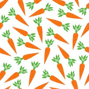 Karotten-nahtloses muster-hintergrund-vektor-design
