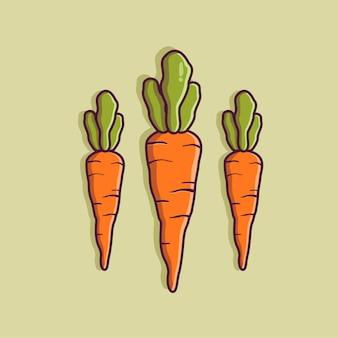 Karottenkarikatur