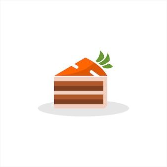Karottenkuchen süße karikaturscheibe bäckerei Premium Vektoren