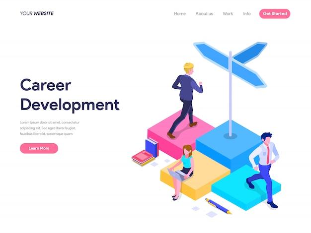 Karriereentwicklungskonzept für landing page, ui, web, homepage, banner