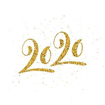 Karte 2020 mit hand gezeichneter beschriftung.