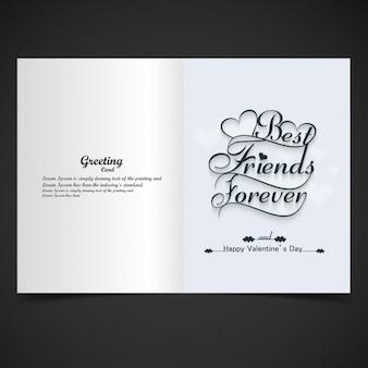 Karte der besten freunde für immer