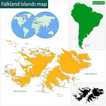 Karte der falklandinseln
