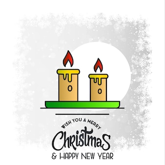 Karte der frohen weihnachten mit kreativem design