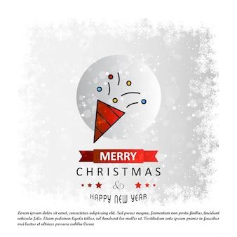 Karte der frohen weihnachten mit kreativem designvektor