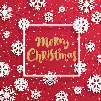 Karte der frohen weihnachten mit schneeflocken.