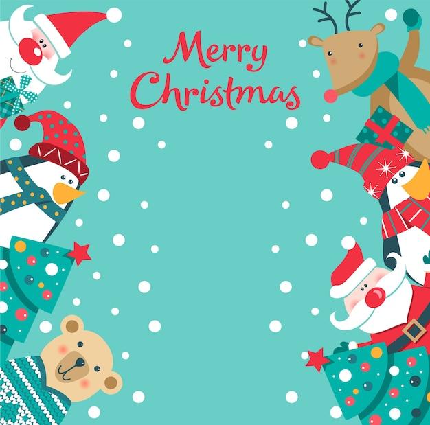Karte der frohen weihnachten.