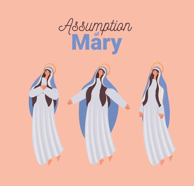 Karte der heiligen maria