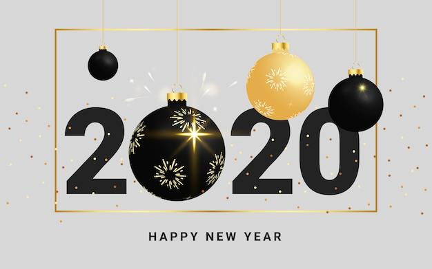 Karte des guten rutsch ins neue jahr und der frohen weihnachten 2020