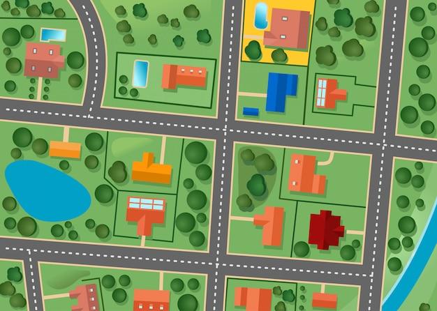 Karte des vorortbezirkes für verkauftes immobiliendesign