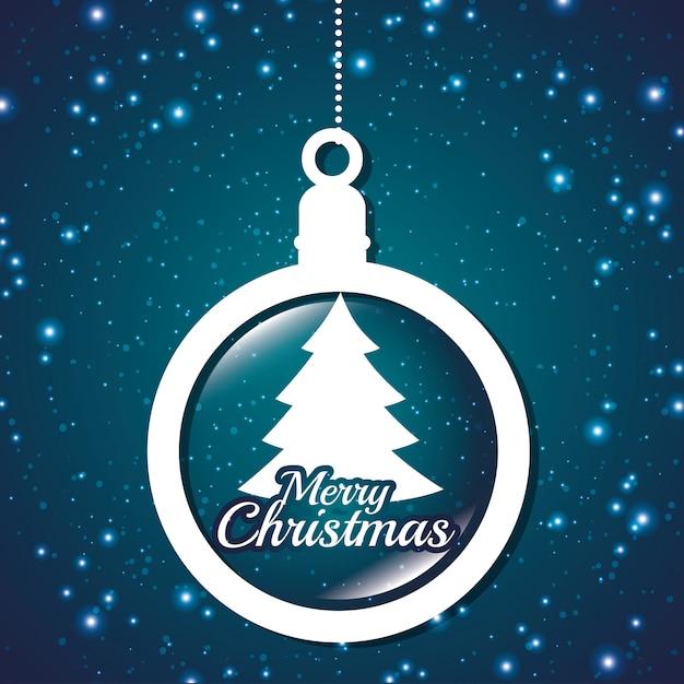 Karte frohe weihnachten und neujahr design isoliert