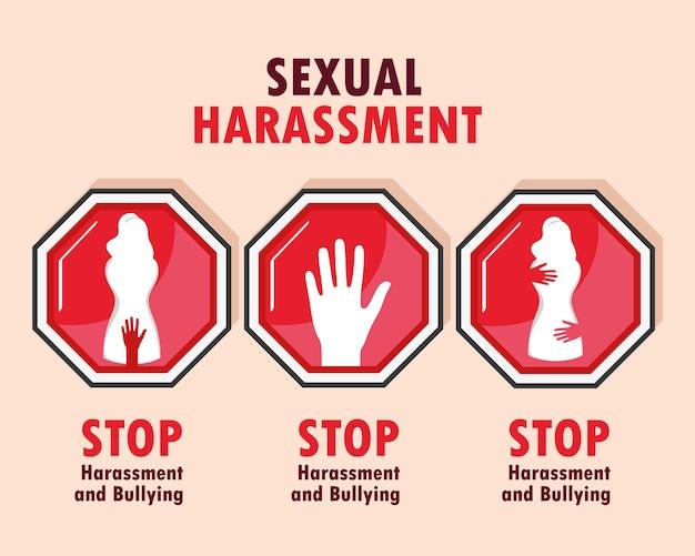 Karte für sexuelle belästigung