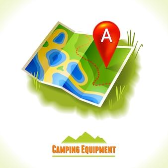 Karte hintergrund-design