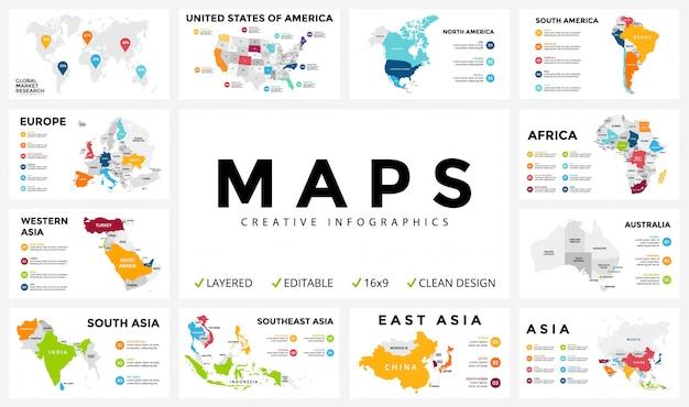 Karte infografiken für geschäftskonzept. isometrisches infografik-design -