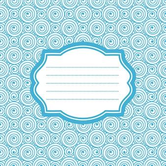 Karte mit blauem rahmen