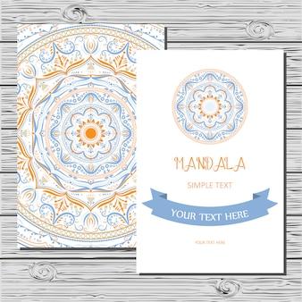 Karte mit mandala.
