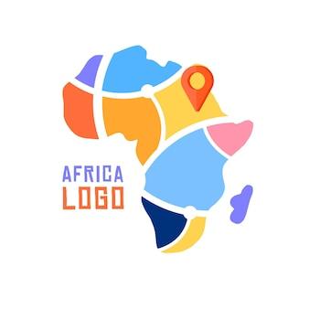 Karte mit punktgenauem afrika-logo