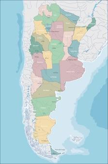 Karte von argentinien
