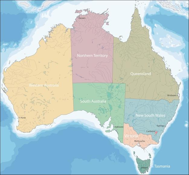 Karte von australien