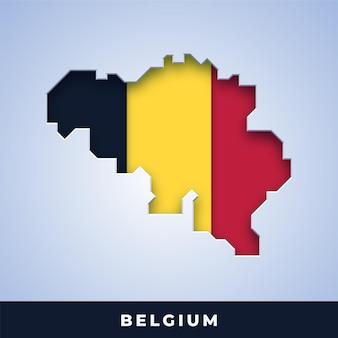 Karte von belgien mit flagge