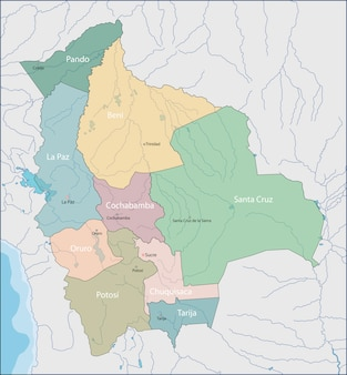 Karte von bolivien