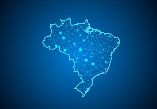 Karte von brasilien.