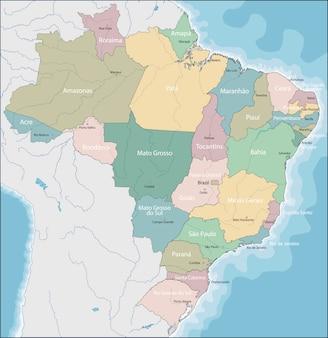 Karte von brasilien