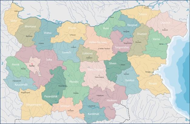 Karte von bulgarien