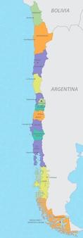 Karte von chile