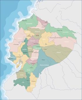Karte von ecuador