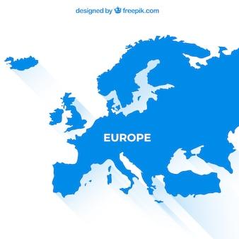 Karte von europa mit farben in der flachen art