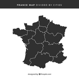 Karte von frankreich Premium Vektoren