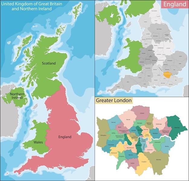 Karte von groß-london