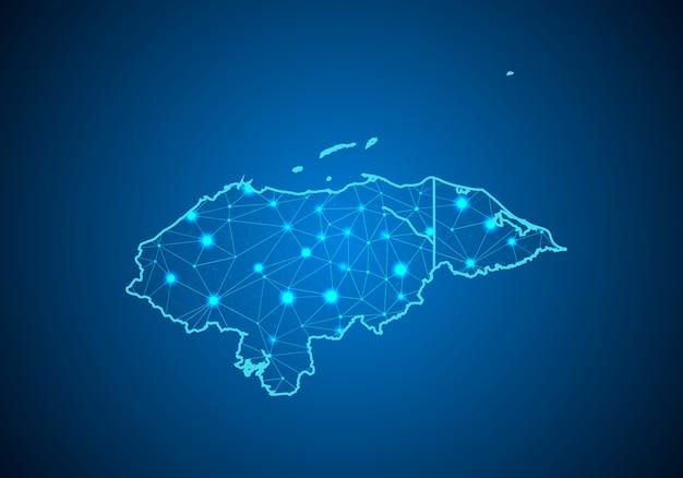 Karte von honduras.
