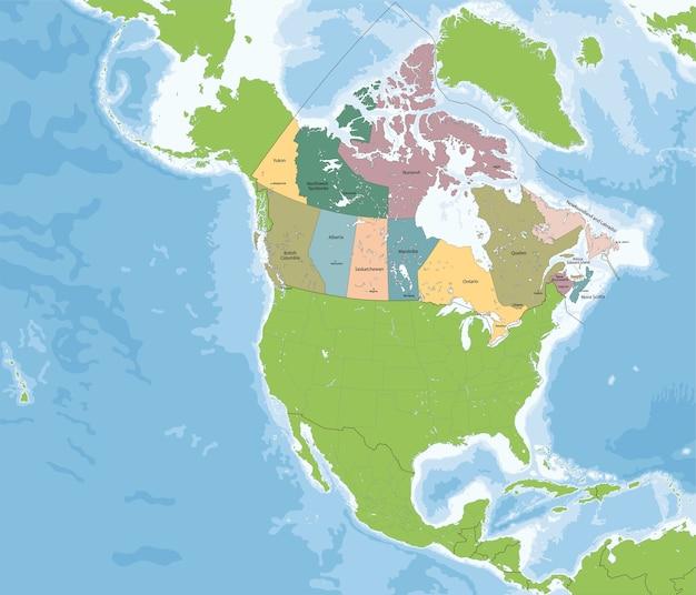 Karte von kanada