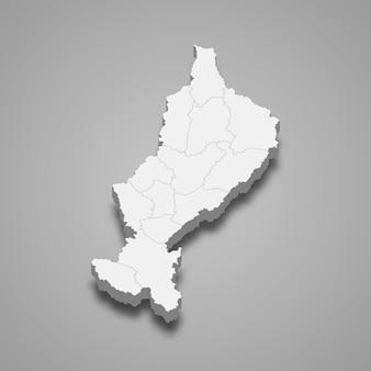 Karte von lampang ist eine provinz von thailand