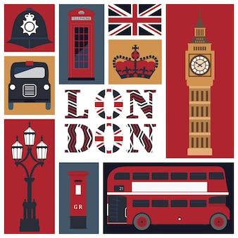 Karte von londons symbolen