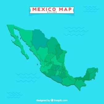 Karte von mexiko