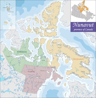 Karte von nunavut