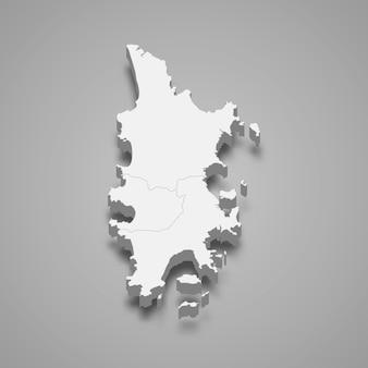 Karte von phuket ist eine provinz von thailand